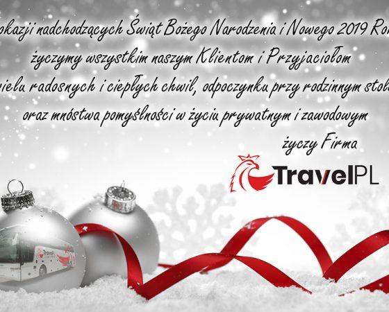 Wesołych Świąt i Szczęśliwego Nowego 2019 Roku!
