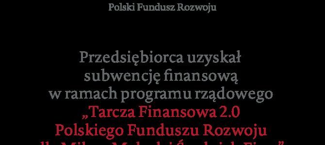 Informacja o uzyskaniu Subwencji Finansowej PFR